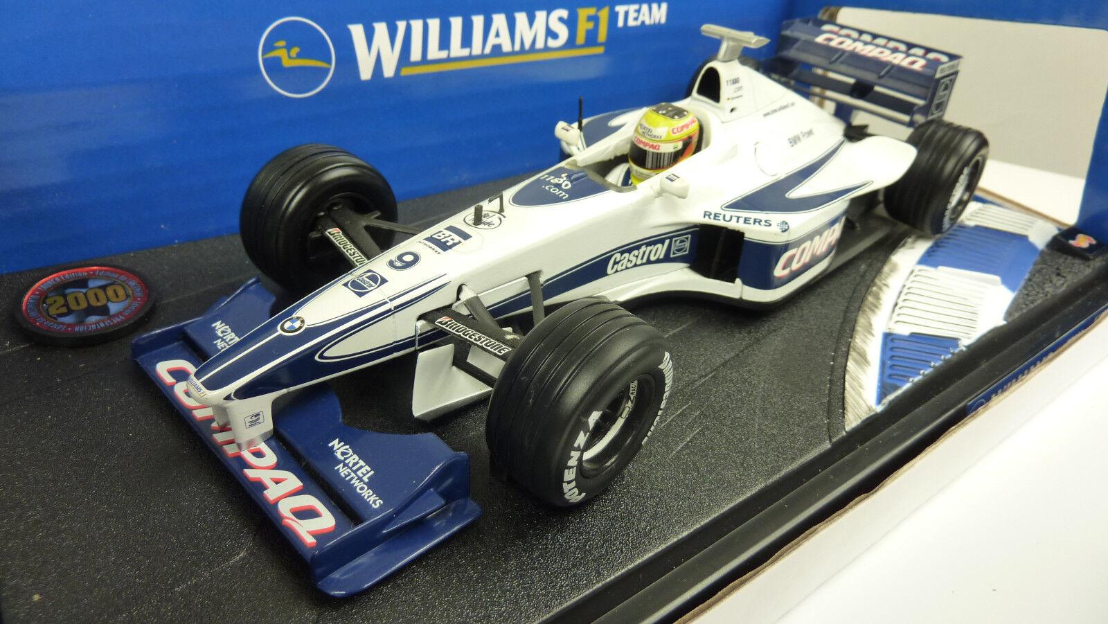 Mattel Hot Wheels 1 18 26696 williams f1 team Ralf Schumacher dans neuf dans sa boîte (a794)