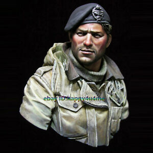 Unassembled-NEW-WWII-UK-Soldier-Bust-Model-Unpainted-Garage-Kits-Figure-Statue