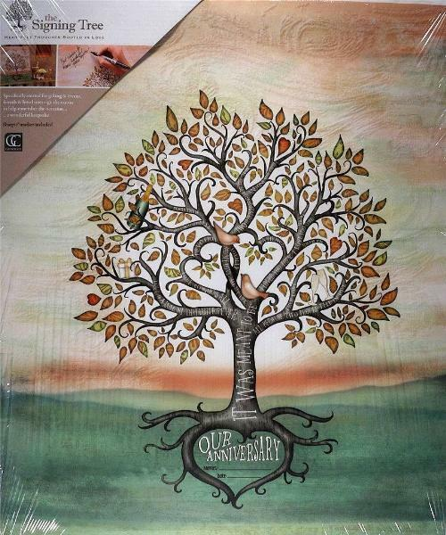 Canvas Drucken Signing Tree  Our Anniversary -FREE SHIPPING