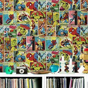 Marvel-Bd-Bande-Papier-Peint-Multi-Muriva-159501-Thor-Hulk-Spiderman