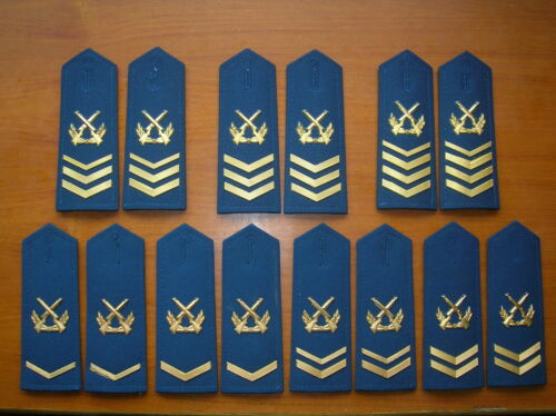 07's series China PLA Air Force NCO and Sergeant Major Shoulder Boards,7 Pair