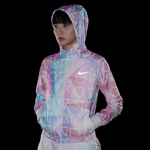 f66d7236b5c7 Nike Shield Women s Hooded Running Jacket L Guava Ice Multi ...