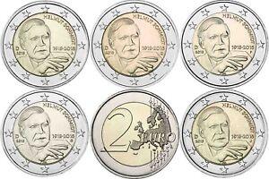 2-Euro-Helmut-Schmidt-2018-Deutschland-Satz-5-Muenzzeichen-A-D-F-G-J-bankfrisch