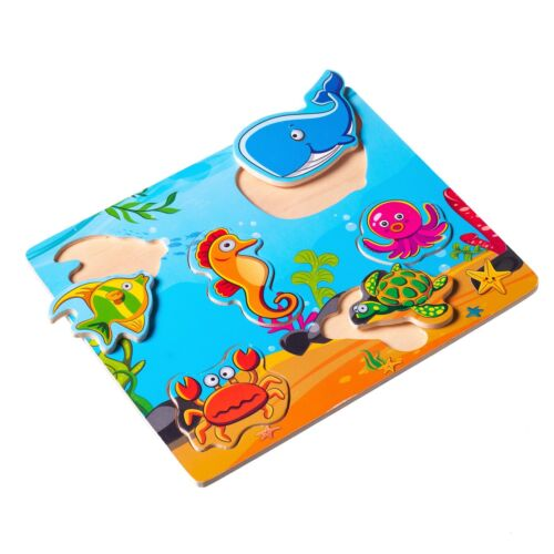 Eliiti Wooden Puzzle Set for Toddlers 2 to 4 Years Old Dinosaurs Animals Toy