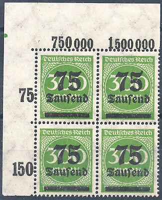 Briefmarken 286 Im Viererblock Vom Plattenoberrand Aus Ecke 1 Mit Aufdruckfehler Online Rabatt Minr