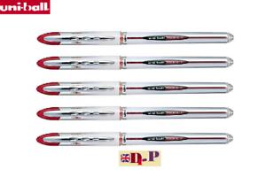 UNI-BALL VISION ELITE ROLLERBALL UB-200 FINE 0.8 mm RED INK SET