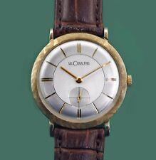 Vintage 50's Classic  Le Coultre Vacheron 14k Gold Men's Dress Watch