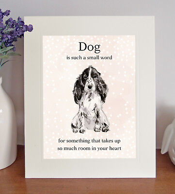 "Gold /""Dog is such a small word/"" 8x10 Picture//Print Lovely Gift Cocker Spaniel"