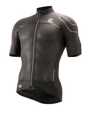 2015 Sugoi Cannondale Black Inc Nano Jersey White//Gold /& Blk//Gold Available