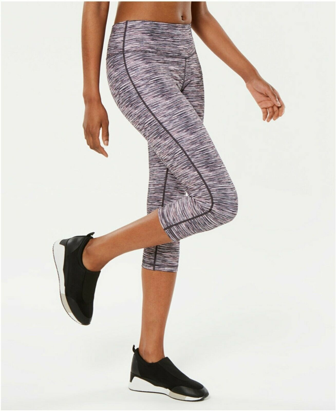 Ideology Space-Dyed Cropped Leggings, Rose Space Dye XXL