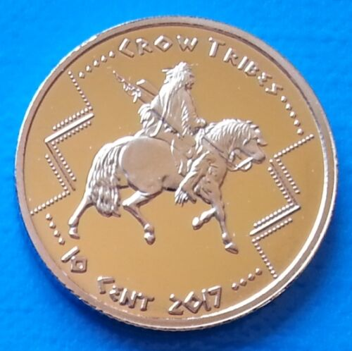 Crow Indian Tribes 10 cents 2017 UNC Warrior on Horse USA unusual coinage