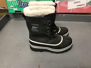 Sorel-Womens-Black-Caribou-Rain-Winter-Snow-Waterproof-Boots-NWOB