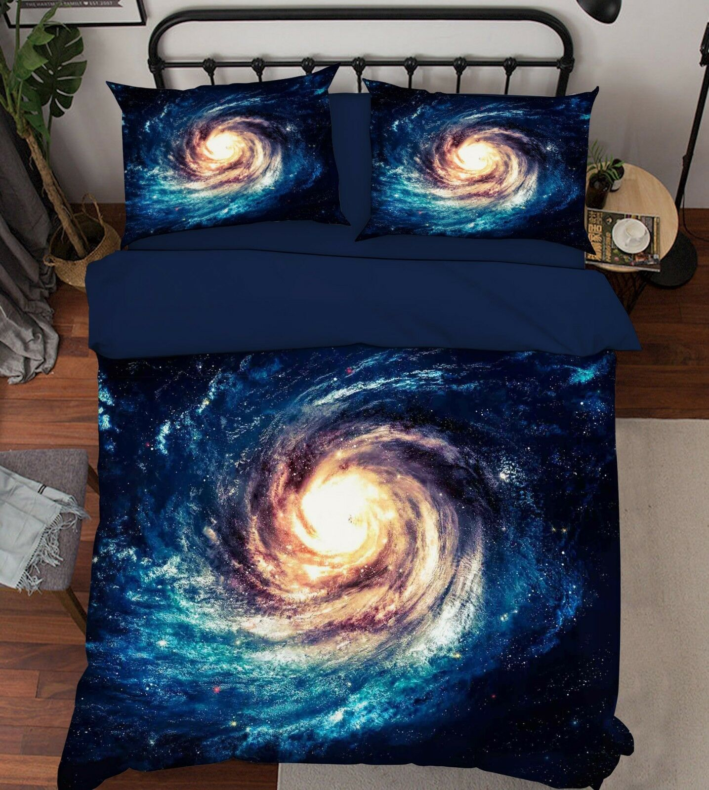 3D Starry Sky Clouds9 Bed Pillowcases Quilt Duvet Cover Set Single Queen King CA
