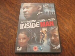 dvd inside man avec DENZEL WASHINGTON, CLIVE OWEN, JODIE FOSTER