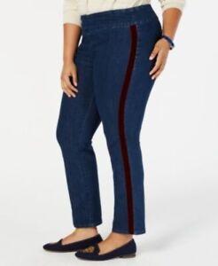 1117 Charter Club Womens Cambridge Slim Leg Waist Smoothing Leans 24W