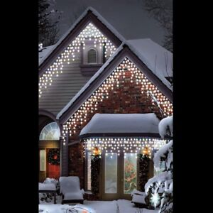 Snowtime outdoor 180 led multi function christmas icicle lights warm stock photo aloadofball Image collections