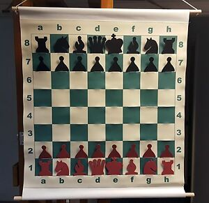 CHESS-SLOTTED-27-034-DEMO-BOARD-w-Pieces-amp-Bag-3-034-Squares