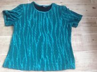 Ladies top size m by bm. Emerald green with sparkly pattern