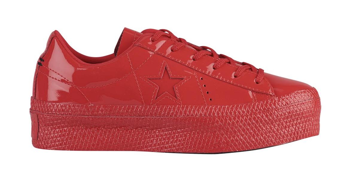 CONVERSE ONE STAR PLATFORM OX Damenschuhe Größe Schuhe SNEAKER ROT PATENTED Größe Damenschuhe 5 - 11 51653f