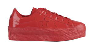 ef1ddb3aa03 CONVERSE ONE STAR PLATFORM OX WOMENS SHOES SNEAKER RED PATENTED 5 to ...