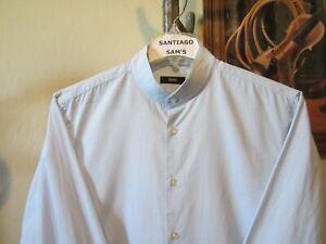 hugo boss collarless shirt