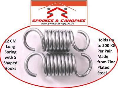 1, 9.5cm S Shaped hooks Heavy duty Spring for garden swing hamock extension spring suspension hooks