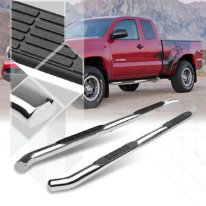 Chrome-3-034-Side-Step-Nerf-Bar-Running-Board-for-05-16-Toyota-Tacoma-Ext-Access-Cab