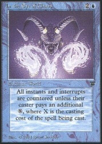 1x In the Eye of Chaos Light Play, English Legends MTG Magic