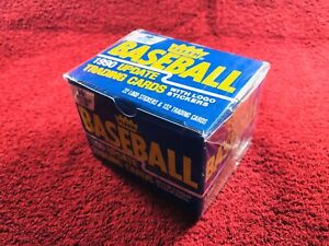 1990-Fleer-Baseball-Update-Complete-NEW-FACTORY-SEALED-Box-Set-132-Cards