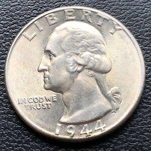 USA-1944-Washington-Quarter-25c-Top-Erhaltung-BU-Silber-25062