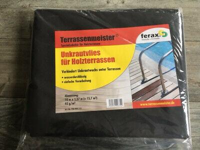 Besorgt Gartenvlies Unkrautvlies Terrassenmeister Ferax Für Holzterrasse-wpc 15,7m² Neu Clear-Cut-Textur