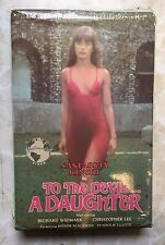 To The Devil A Daughter VHS Big Box Version 1976 Horror Occult Christopher Lee