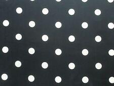 Ralph Lauren Curtain Fabric GEORGETTE DOT 3.6m Navy Blue Spot Design 360cm