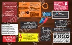 Bmw E28 M5 Restoration Decals Stickers Set Full Ebay
