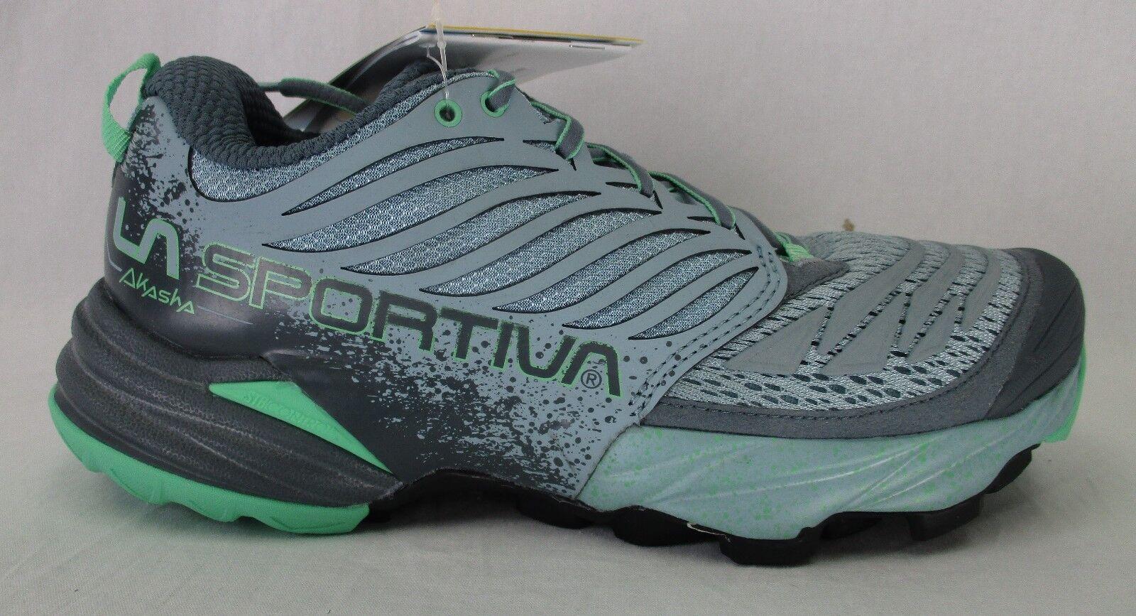 La Sportiva Womens Akasha Mountain Running Shoes 26Z Stone Blue/Jade Green 39.5