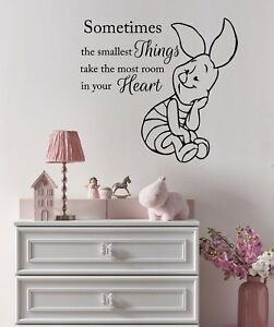 Details About Wall Decals Quote Winnie The Pooh Decal Piglet Vinyl Sticker Nursery Decor Ms321