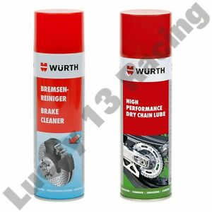 Wurth-dry-chain-lube-or-brake-cleaner-high-performance-500ml-multiple-options