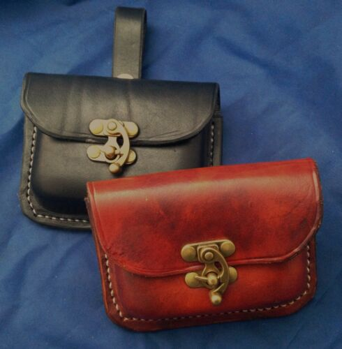 Real Leather Belt Pouch Choice of Colours /& Belt Attachment Small Handmade