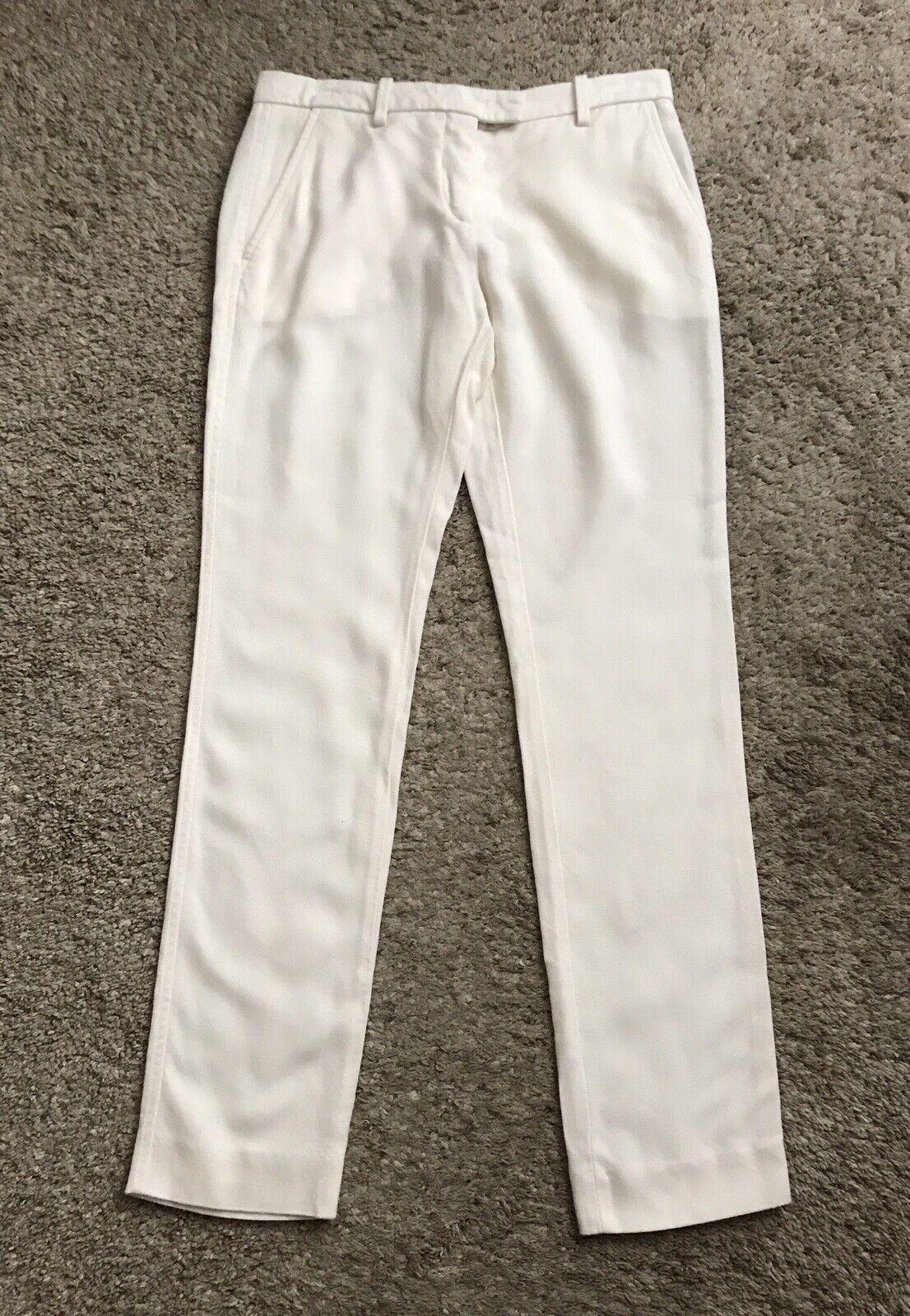 ISABEL MARANT Womens Size 2 Cream White Straight Leg Dress Pants 32  Inseam
