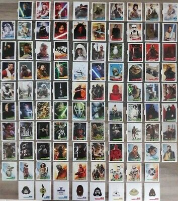 100 Cartes Star Wars leclerc 2019 //100 stickers