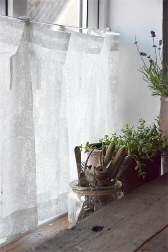 Jeanne d´Arc Living Querbehang Bistro Café Gardine JDL Shabby Chic Landhaus 50cm