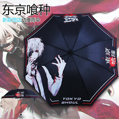 Anime Tokyo Ghoul Ken Kaneki Folding Umbrella Sun//Rain Cartoon Cosplay Gift