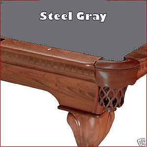 8' Steel Gray ProLine Classic Billiard Pool Table Cloth Felt - SHIPS FAST!