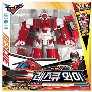 TOBOT V EMERGENCY RESCUE Y Helicopter Transforming Robot Figure Toy (2018 Oct)