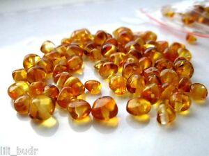 Runde Bernstein Poliert Naturbernstein gebohrt auffädeln 30 perlen+1 Plas KLEMME