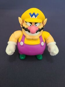 "2015 Jakks Pacific Mario World of Nintendo WARIO 4.5"" Wave 1-1 Figure Original"