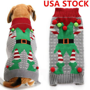 Pet-Dog-Santa-Christmas-Sweater-Clothes-Shirt-Puppy-Cat-Pullover-Hoodies-Costume