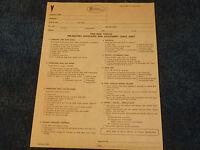 Gm 1968 Pontiac Dealer Sheet Gp Lemans Firebird Gto 400 Inspection Paper 68