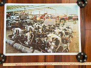 Poster Porsche 356 Volkswagen VW Beetle Flat 4 Factory Picture