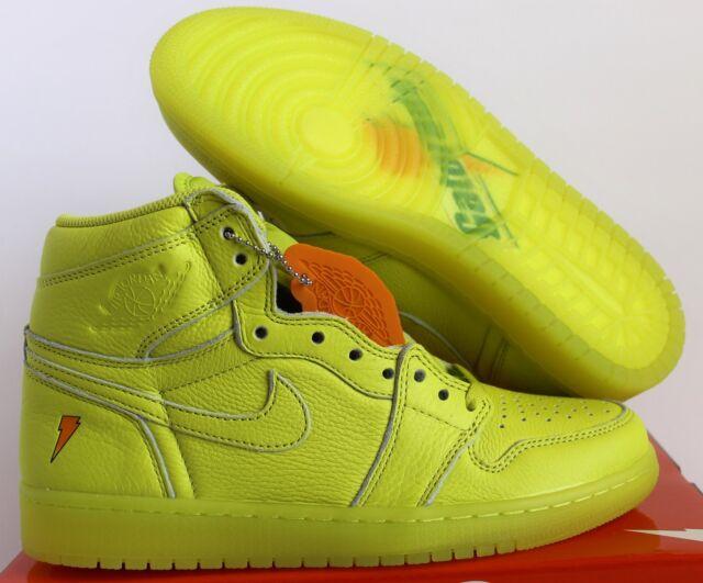 san francisco 855aa 8eace Nike Air Jordan 1 Retro Hi OG G8rd Gatorade Lime Cyber Yellow Aj5997-345 Sz  8.5